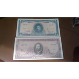 Billetes Del Banco Central De Chile 1/2 Y 1 Escudo Nuevos