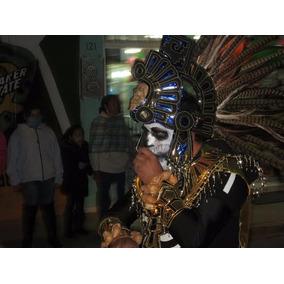Copilli Azteca Calavera Danza Prehispanica Penacho C Envio