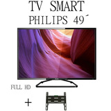 Smart Tv Philips 49´ Pulgadas+soporte De Regalo Netflix Mdp