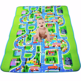 Tapete Portatil Diseño Ciudad Para Bebe Niños B5009