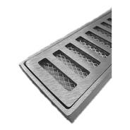 Ralo Grelha Pluvial 10x50 Aluminio + Tela Anti Insetos