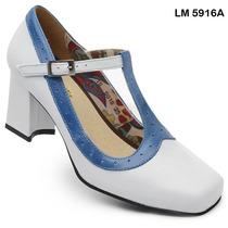 Sapato Boneca Estilo Retro Em Couro! Lm 5916 (forma Grande)