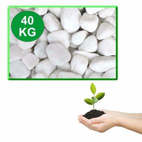 Pedras Brancas Jardim Paisagismo 40 Kg Tamanhos 1 2 3 4