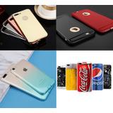 Lote 224 Capas Iphone Color Gradiente Bumper Espelhado Metal