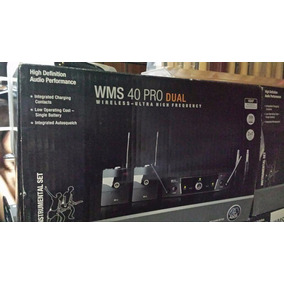 Akg Wms40 Pro Set Dual Inalambrico De Instrumentos Musicales