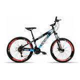 Bicicleta Aro 26 Vikingx X25 21v Shimano Vmax Spinner P Azul