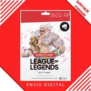 League Of Legends Lol 2600 Riot Points Rp
