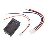 Voltímetro Amperímetro 100v10a Led Azul Vermelho Bateria Som