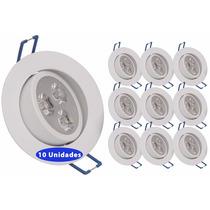 Kit 15 Spot Super Led 3w Lampada Direcionável - Branco