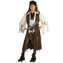 Disfraz De Piratas Del Caribe Para Niña Talla M