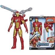 Iron Man Muñeco Figura 30 Cm Lanza Dardos Blast Gear Ironman