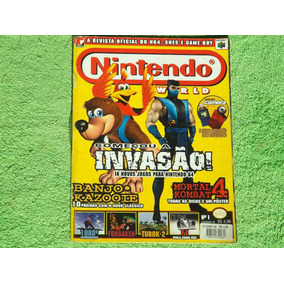 Antiga Revista Nintendo World - Mortal Kombat Banjoo - Nº 1