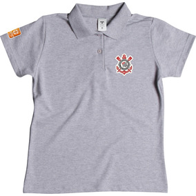 Camisa Polo Feminina Corinthians Varias Cores Feminino