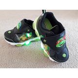 Zapatillas Luces Led Tortugas Ninja Light Up Originales!!!