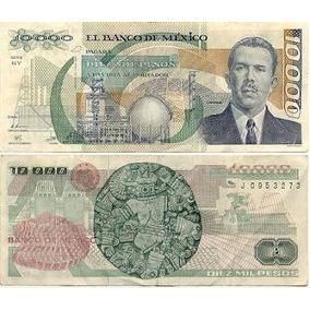 Un Billete 10,000 Pesos Lazaro Cardenas Condicion Seminuevo