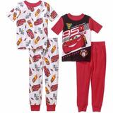 Pijama Dos Carros 4 Peças Menino - 2 Anos Importado