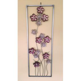 adornos pared metal cuadros de flores en mercado libre argentina