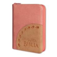 Biblia Mediana Flores Cierre Rosa Reina Valera 1960
