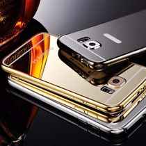 Bumper De Lujo Aluminio Y Espejo Samsung Galaxy S6 O S6 Edge
