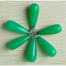 Colgante Dije Jade Verde Piedra Natural Forma Gota De Agua