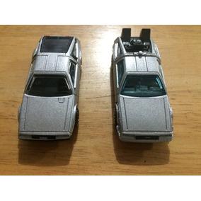 2 Autos Hot Wheels Delorean Dmc Volver Futuro Loose Suelto
