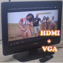 Tv Philips Lcd Com Função Monitor 26 Polegadas Vga Hdmi