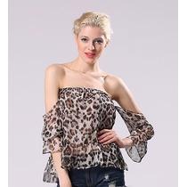 Blusa Strapless Animal Print_ Entrega Hoy!