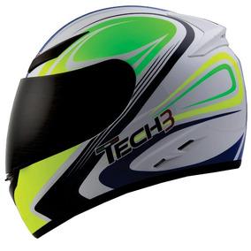Capacete Tech3 F500 Force Azul/amarelo Rs1