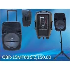 Bafle Amplificado Orbix 15 Pulgadas 4600w Recargable Tripie