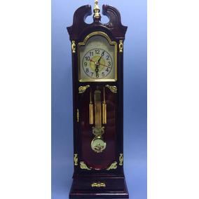 Relógio Analógico De Mesa Despertador Rústico Pêndulo 27cm
