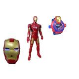 Kit Boneco Homem De Ferro Vingadores Marvel+ Máscara Relógio