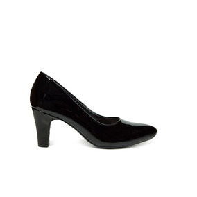 Trender Zapatilla Color Negro Con Tacon 6 Cms