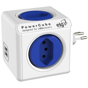 Adaptador Universal Elg Powercube Orginal Pwc-r4u 4 Tomadas