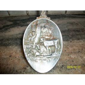 Antigua Cuchara De Alpaca,decoracion Vitrina,coleccion