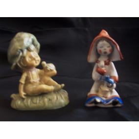 Figuras 2 Porcelana Vitrina Niño C/ Tortuga Y Niña Holandesa