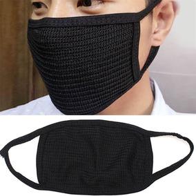 Máscara Preta Kpop Idol Coreana Elástica (à Pronta Entrega)