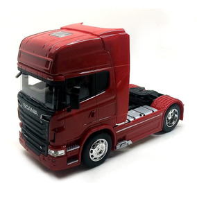 Scania R730 V8 Cavalo Caminhão Mini 1:32 Vermelha Frete Free