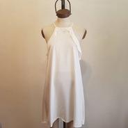 Vestido Corto Musculosa De Verano Blanco Talle Unico
