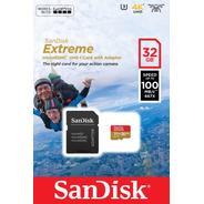 Memoria Micro Sd 32gb Sandisk Extreme Video 4k