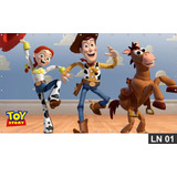 Toy Story Wood Buzz Painel 3m² Lona Festa Banner Aniversário