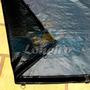 Lona Capa 6x4 M Cinza Preta Plastica Cobertura Lago Pppe
