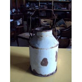 Antiguo Mini Tarro Lechero Enlozado 20.5cm