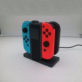 Base De Carga Nintendo Switch Cuatro Joy-con Luz Led
