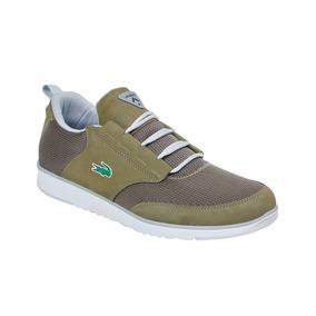 Tenis Lacoste Casual Para Hombre Color Verde