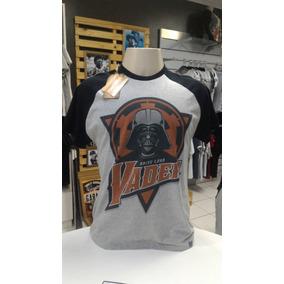 Camiseta Star Wars Darth Vader (raglam) Tribbos Store