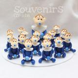 Set 16 Souvenirs + Central Bebe Bautismo 1er Añito Porcelana