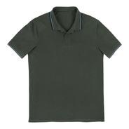 Camisa Polo Básica Manga Curta Masculina Em Malha De Algodão
