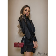 Vestido Detalhe Plissado + Cinto Perfect Way So06227