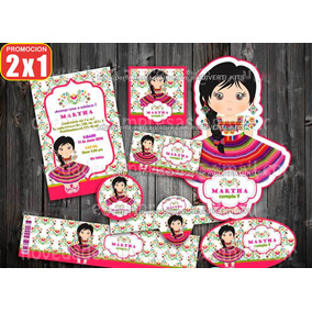 Kit Imprimible Fiesta Regional Mexicana Tipica Oferta Dulce