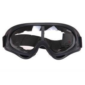 Óculos Tático Airsoft Esporte Militar Moto Bike Lente Clear